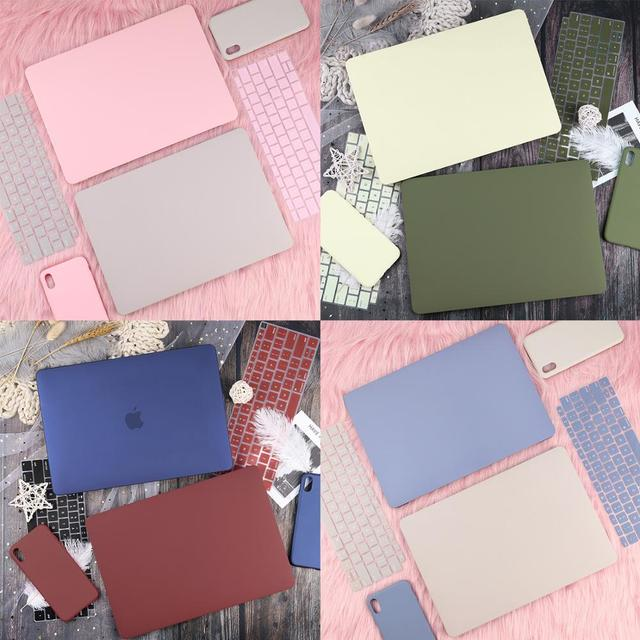 New Arrive color Laptop Case for Macbook Air 13 2019 2020 A1932 Retina Pro 13 15″ Touch bar 2018 A2159 A1989 A1990 +Free Gift