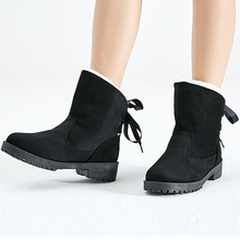 купить Women Boots Winter Shoes Plus Insole Snow Boots Fur Ankle Boots For Women Lace Up Waterproof Casual Female Botas Mujer Size 43 по цене 1521.46 рублей