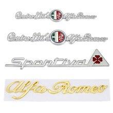 자동차 스티커 Alfa Romeo GT Giulia Giulietta Stelvio Mito Quadrifoglio Sportiva 배지 용 네 잎 클로버 로고 엠블럼 데칼