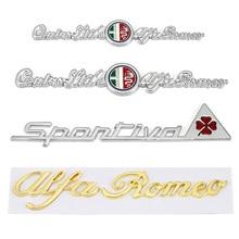Car Stickers Four Leaf Clover Logo Emblem Decals for Alfa Romeo GT Giulia Giulietta Stelvio Mito Quadrifoglio Sportiva Badge