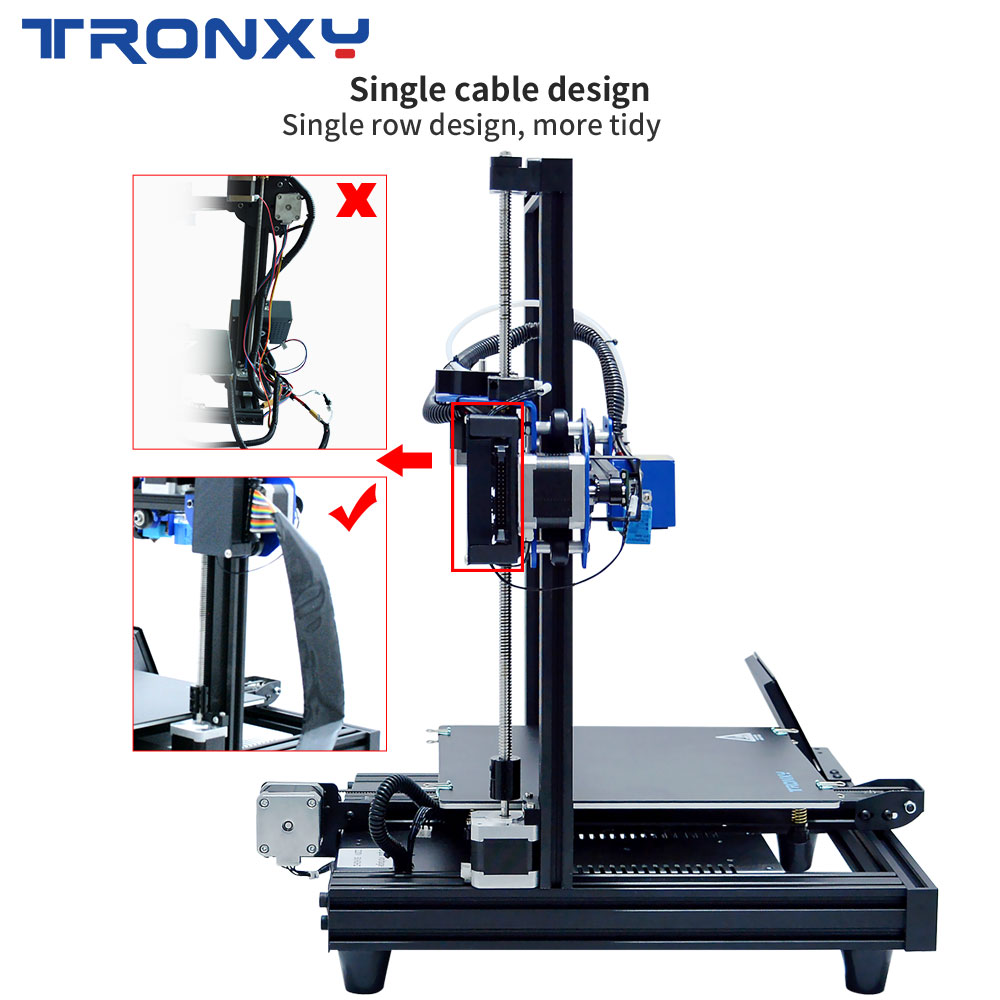 Image 3 - TRONXY 3D Printer XY 2 PRO 3D Printer Large Size I3 255*255 Hotbed V slot Resume Power Failure Printing FDM printing 3D Drucker3D Printers   -