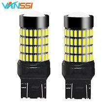 VANSSI 2Pcs T20 W21/5W 7443หลอดไฟLED 7443 SRCK LEDไฟรถสีขาวสีแดงDC12 24V 1ปี