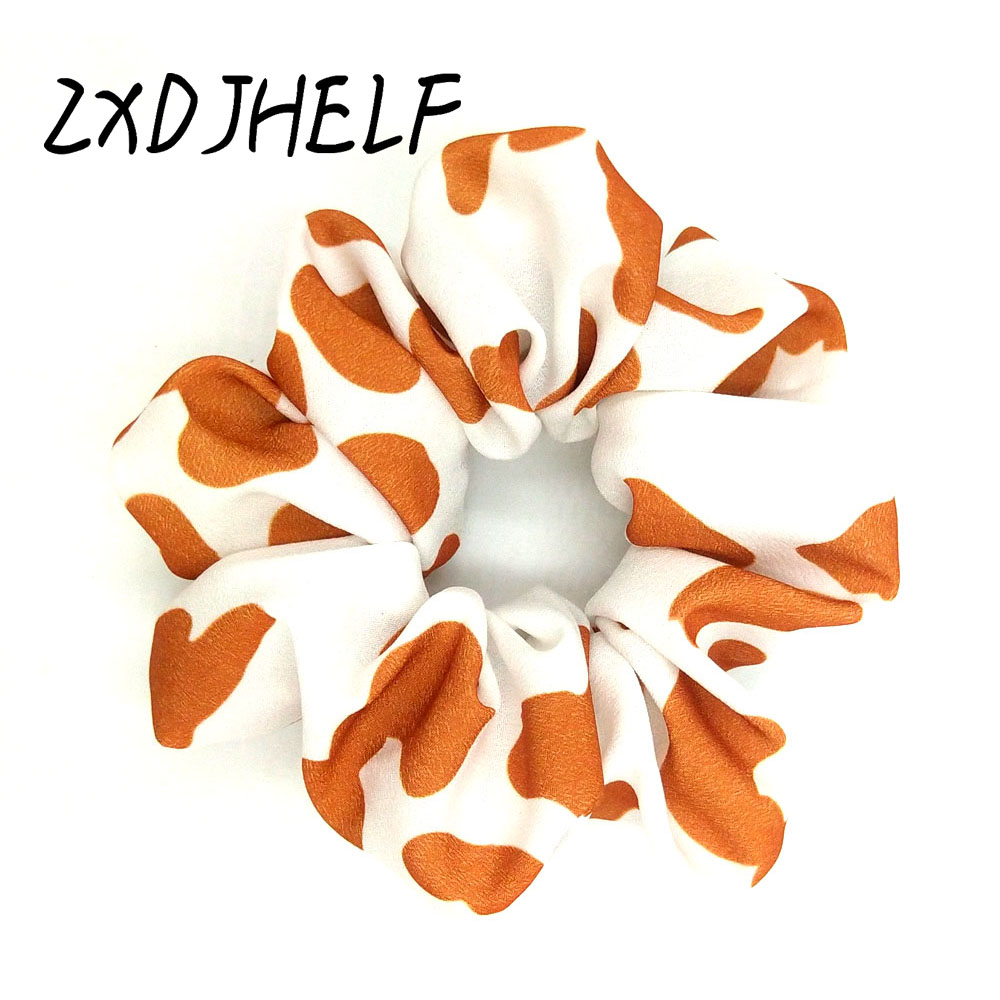 ZXDJHELF New Arrival Vintage Leopard Ponytail Holder Scrunchies Ring Elastic Hair Band Tie For Women Girl Hair Accessoires F512(China)