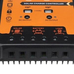 Image 4 - 12 فولت/24 فولت 30A الشمسية جهاز التحكم في الشحن الشمسية منظم بطارية اللوحة المزدوجة USB شاشة الكريستال السائل مع دليل المستخدم 10 بيك