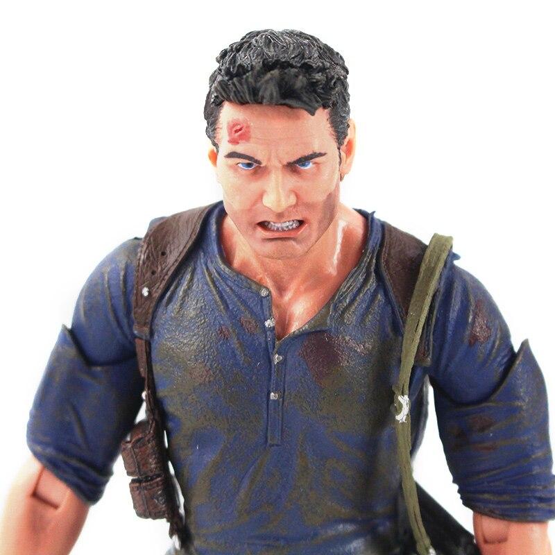 Hd68ada3831f749f8b84f228f0ac5c75bg Action Figure Uncharted 4 nathan drake arma edição final figura de ação brinquedo de modelo colecionável