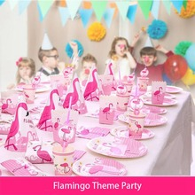 Flamingo Party Decoration DIY Summer Tableware Decor Home Festival Supplies