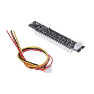 Image 4 - Mini Dual 12 bit Music Level Indicator Adjustable Light Speed VU Meter Stereo Amplifier Board With AGC Mode
