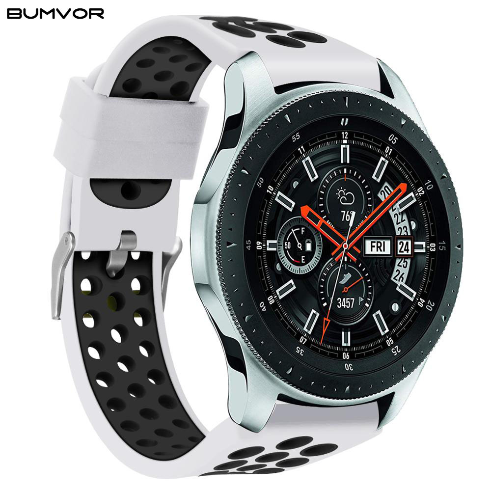 20mm 22mm Silicone Strap Band For Samsung Galaxy 42mm 46mm Active 2 Gear S2 S3 Amazfit GTR Bracelet Watchband For Active2 GT 2