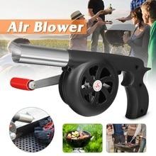 Ventilateur de Barbecue de cuisine en plein Air souffleur d'air pour Barbecue soufflet de feu outil de manivelle pour pique-nique Camping poêle accessoires