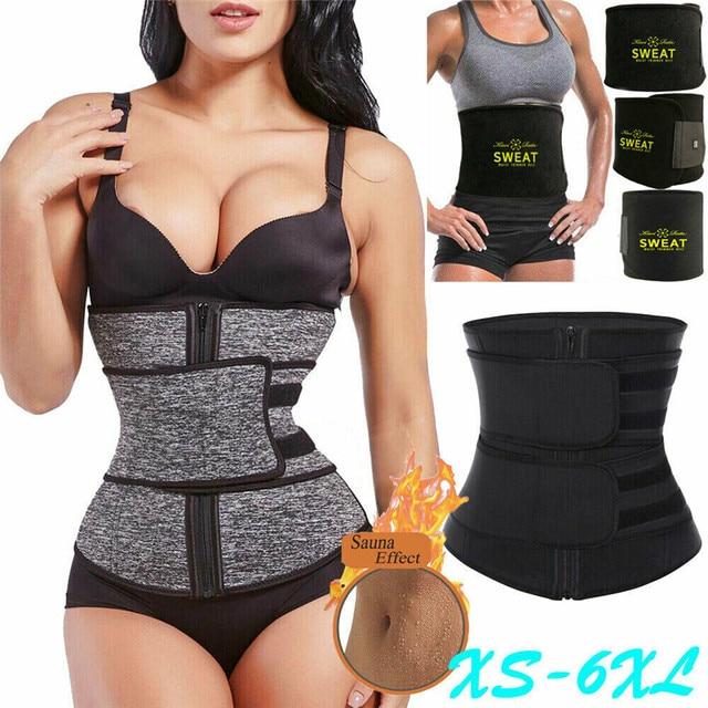 Waist Trainer Cincher Trimmer Sweat Belt Women Men Shapewear Gym Body Shaper  Sport Corset Waist Sauna Women Belly Trainer 1