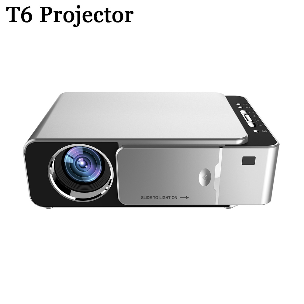 T6 Proiettore 4K 3500 Lumen 1080P Video Full Hd Ha Condotto Il Proiettore Portatile Vga Usb Hdmi Beamer per La Casa cinema title=