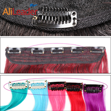 Leeons Wholesale Hair Extension Comb Clips Extensiones Hair Clips For Human Hair Black White 20Pcs/ Lot U Shape Wig Clips