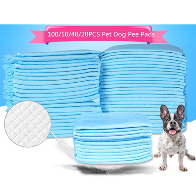 XL/L/M/S 100PCS Pet Diaper Super Absorbent Dog Training Pee Pads Healthy Clean Dog Pads Disposable Dog Diaper Puppy Training Pad