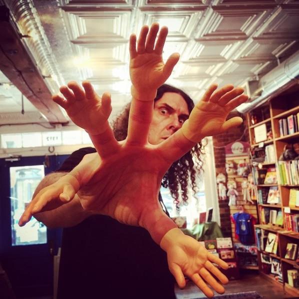 Cartoon Funny Finger Hands And Finger Feet Set Creative Finger Toys For Children Educational Joke Fun Hand Horror Model Toys