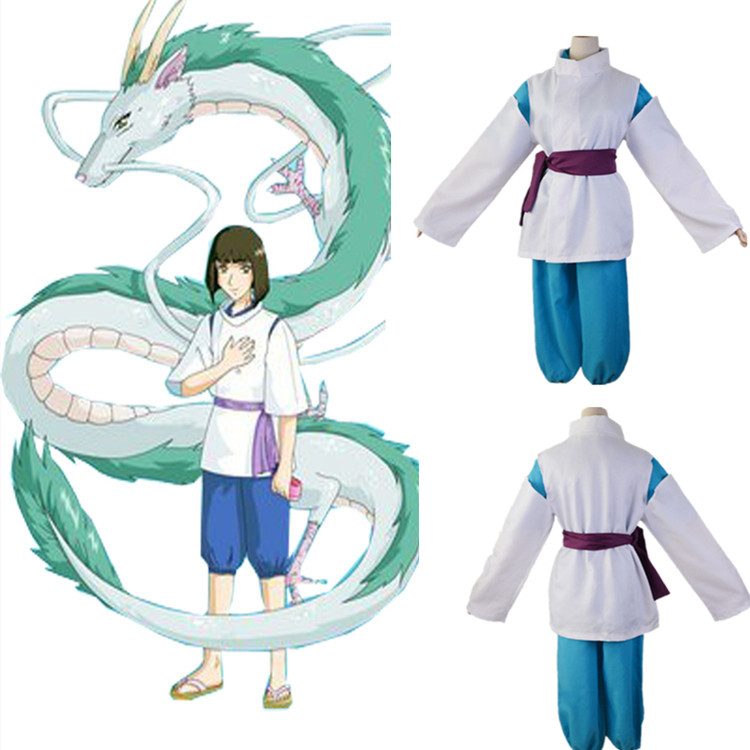 Spirited Away Sen To Chihiro No Kamikakushi White Dragon Haku Nigihayami Kohakunushi Uniform Cosplay Party Costume Full Set Game Costumes Aliexpress