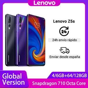 Глобальная версия смартфона Lenovo Z5s Snapdragon 710, Восьмиядерный, 64 ГБ, 128 ГБ, распознавание лица, 6,3 AI, тройная задняя камера, Android P, мобильный телефон