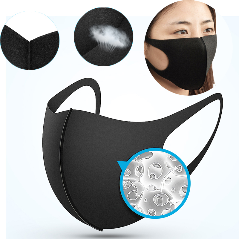 Anti Dustproof Facial Mouth Mask Washable Masks Reusable  Protective Cover Masks Unisex Face Cover Outdoor Bike Running Sports