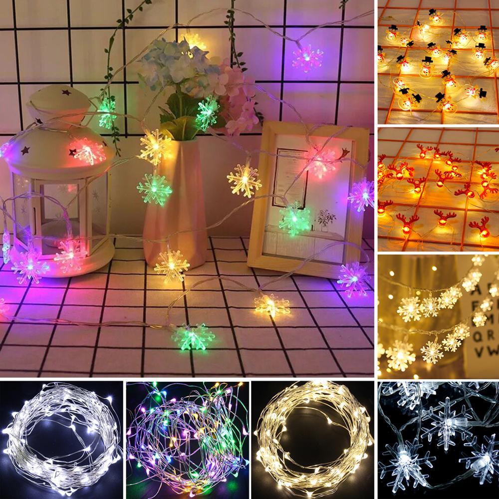 Fractal 2020 Christmas Gift Christmas String Lights Merry Christmas Decoration For Home 2020