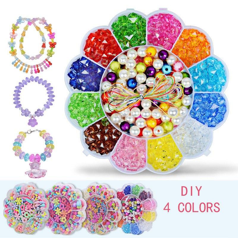 Children Bracelets For Girls Diy Toys For Children Handmade Necklace Girl Handmade Beading  Bracelets Diy Interactive Toys