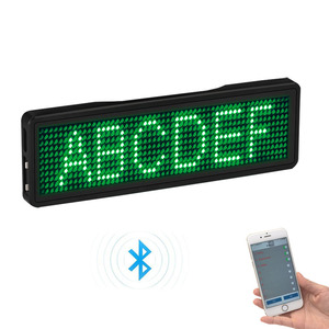 Image 3 - Bluetooth LED Badge Rechargeable Led Name Tag  11*55 wide LED trademark with magnet and pin for party event meeting