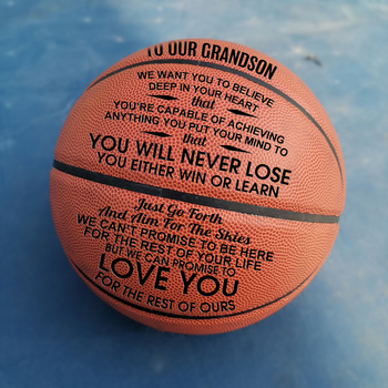 To My Grandson You Basketball Wholesale or retail  Cheap Ball Official Size7 With Net Bag+ Needle