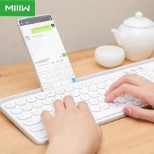 Teclado Original Miiiw con Bluetooth, modo Dual, 104 teclas, 2,4 GHz, portátil, inalámbrico, Compatible con Xiaomi, macbook, mini