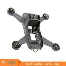 DJI Spark средняя рамка Корпус чехол Быстрый Ремонт Запасные части полуфабрикат для DJI SPARK Дрон набор аксессуаров