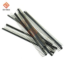 5Pcs Right Angle Baris Tunggal Pria PIN HEADER 40Pin 2.54 Mm Pecah Tandai Judul Pita Strip Konektor DIY untuk arduino(China)