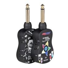 B9 Wireless Guitar System Rechargeable 4 Channels Guitar Transmitter Bass Pick Up Guitar Accessorie Guitar Wireless Transceiver