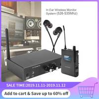 For ANLEON S2 Stereo Wireless In Ear Monitoring System Stage Monitoring 561 568Mhz with transmitter/Earphone Microphone