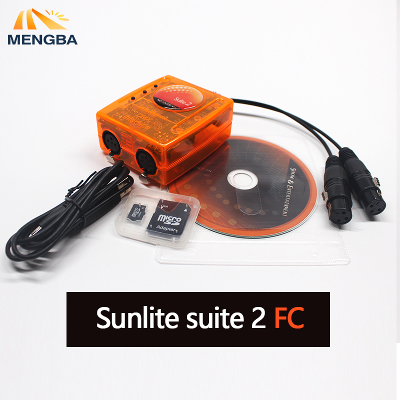 Professional Stage Controlling Software Sunlite Suite 2 FC DMX-USD Controller DMX Good For DJ KTV Party LED Light 1536 Channel