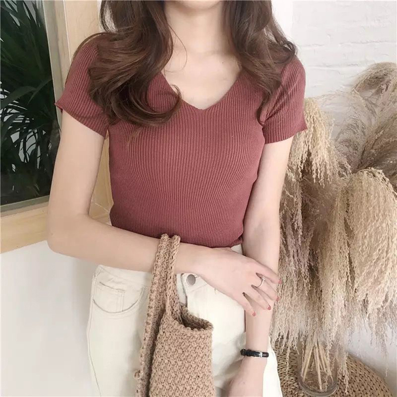 Pullover Knit Sweater Women 2020 Autumn Clothes Women Jumper V Neck Soft Rib Knitted Winter Tops Knitwear Pull Femme Sweaters