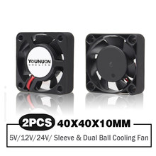 2 Pieces Dual Ball Bearing 40x40x10mm 40mm 4cm DC Brushless Cooling Fan DC 5V/12V/24V Cooling Cooler Fan for 3D Printer PC