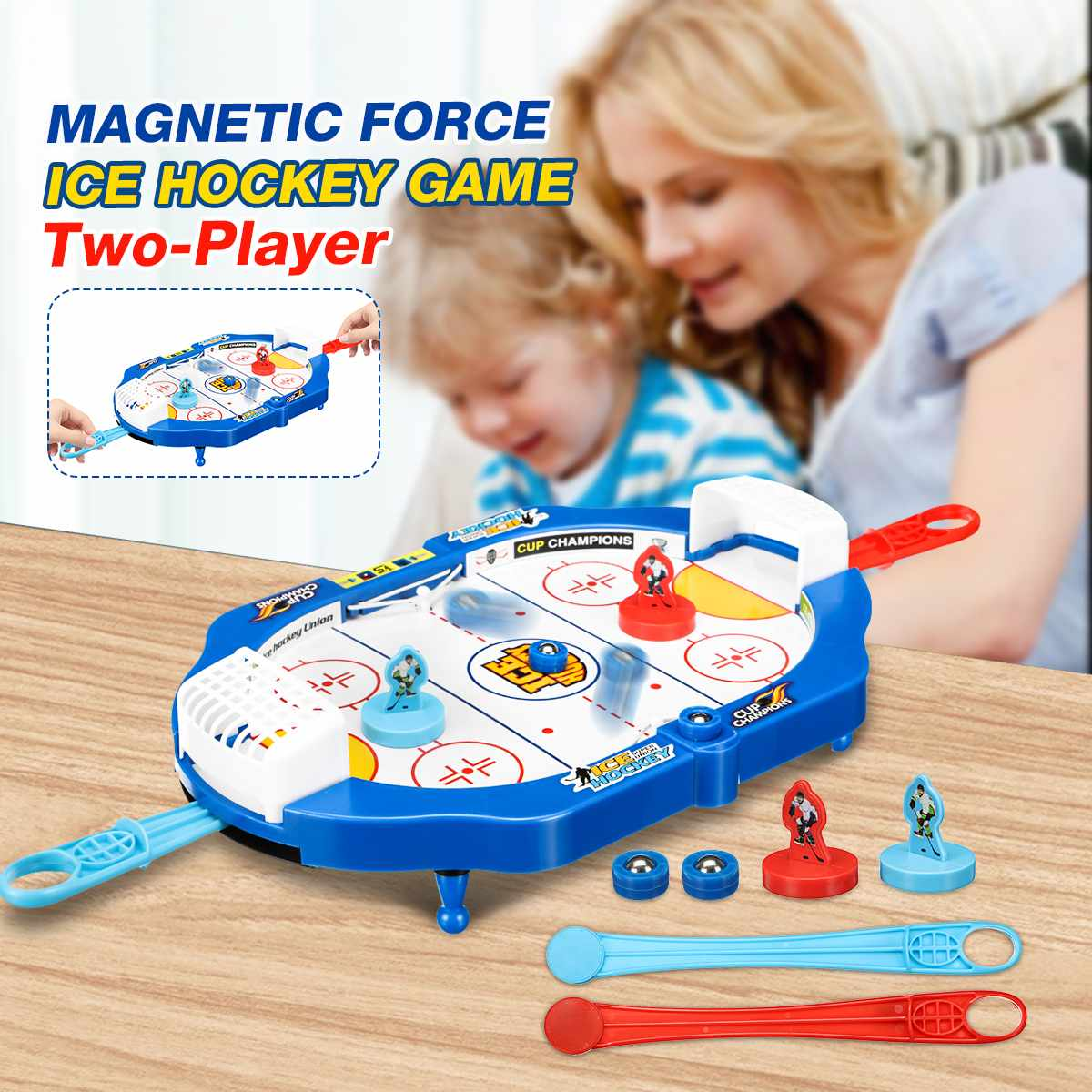 Parent-Children Desk Ice Hockey Table Game Family Toys Fast Puck Catapult Chess Interactive Foosball Games
