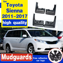 Set of 4 Splash Guard Mud Flaps Mudflaps for Toyota Sienna 2011 2012 2013 2014 2015 2016 2017 Front & Rear Left & Right 2 pcs mud flaps splash guards front protective guard from splash guard splashproof for jeep grand cherokee 2011 2012 2013 standard