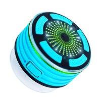 Mini Portable Speaker IPX7 Waterproof Speakers Wireless BT Speaker Heavy Bass Music Players Sound Box FM Radio LED Mood Light