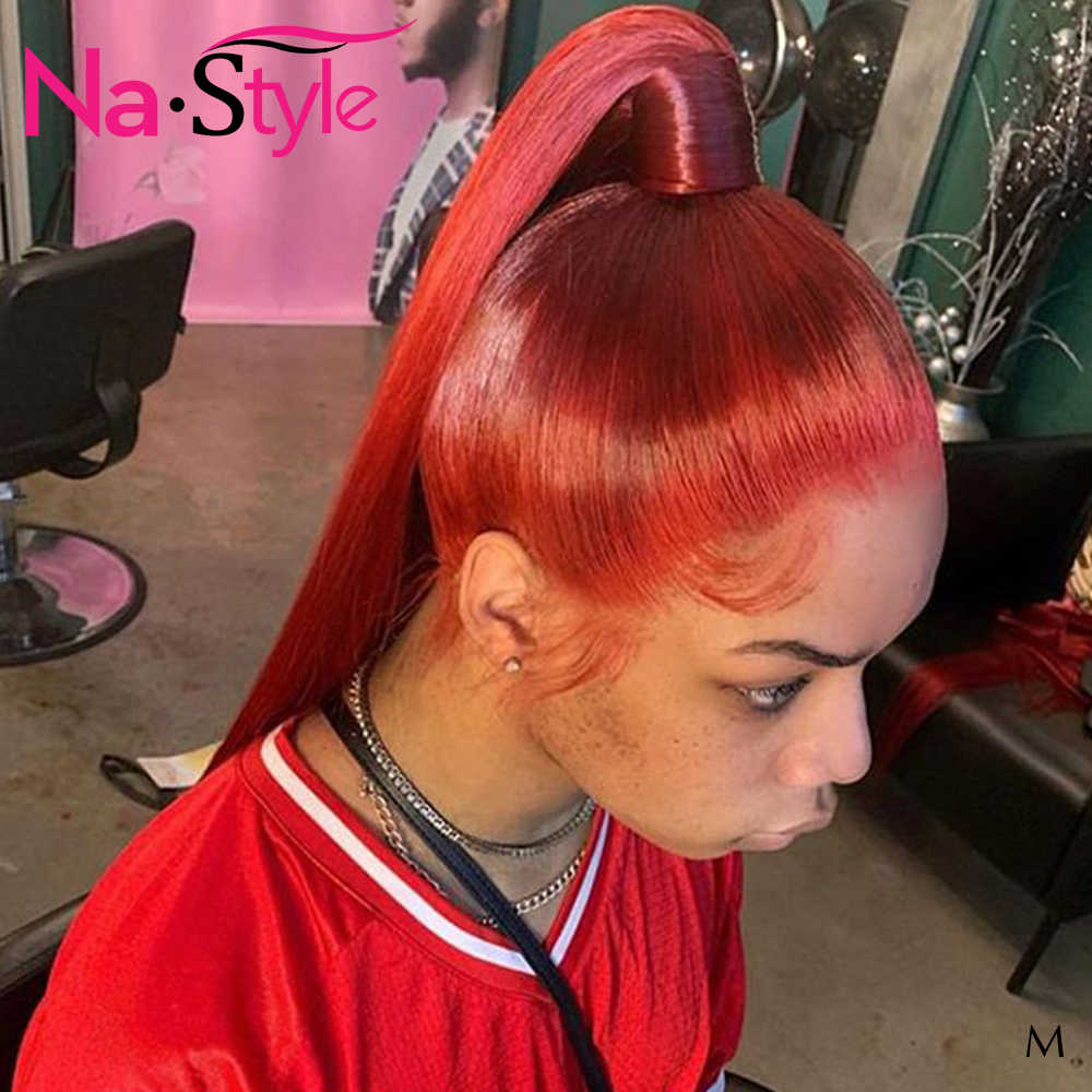 Red Wig Human Hair For Women Colored Human Hair Wigs Pre Plucked With Baby Hair Straight Lace Wig Humain Hair 130 Nastyle Remy