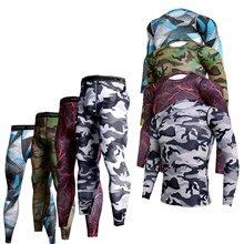 Suit Sportswear-Kit Soccer Long-Sleeve T-Shirts Gym Fitness Men Running Men's Brand