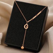 Роскошное Брендовое ожерелье из титановой стали с буквой g Женские