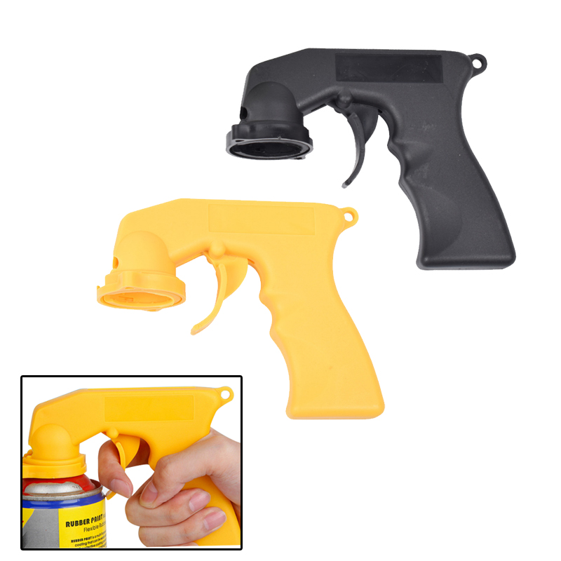 Aerosol Spray Can Gun Handle With Full Grip Trigger Adapter Locking Collar For Car Paint Care Maintenance Painting Paint Tool