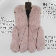 New Women's Sleeveless Jacket 100% Fox Fur Vest 2021 Winter Fox Fur Coat Women's Short Fur Coat Oversized Women's Warm Vest