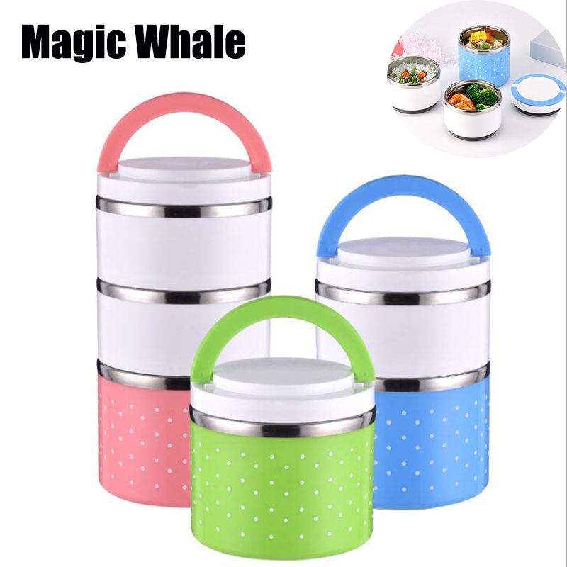Hot Sale Lunch box Stainless Steel Thermal Insulation School Lunch Box Leak Proof Food Container Bento Box-in Lunch Boxes from Home & Garden