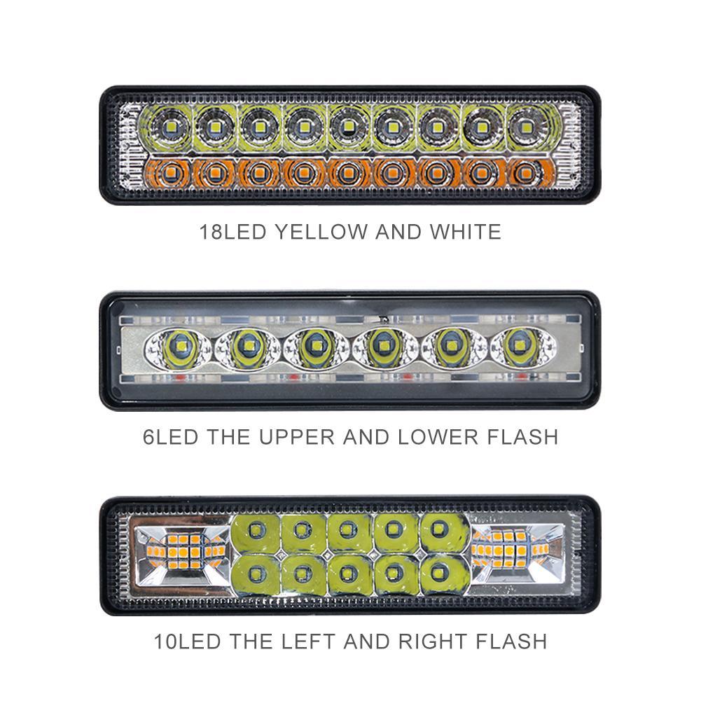 Truck Led Light Bars Fso Flash Light Auto Off Road Auto LED Light Bar Driving Work Lights Single Row LED Light For ATV Cars Work