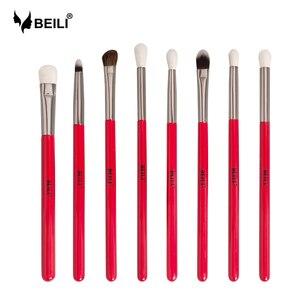 Image 1 - BEILI makyaj fırçası 1 adet profesyonel doğal saç göz farı fırça Blender kırışık makyaj kozmetik 228/221/222/223/235/134/225
