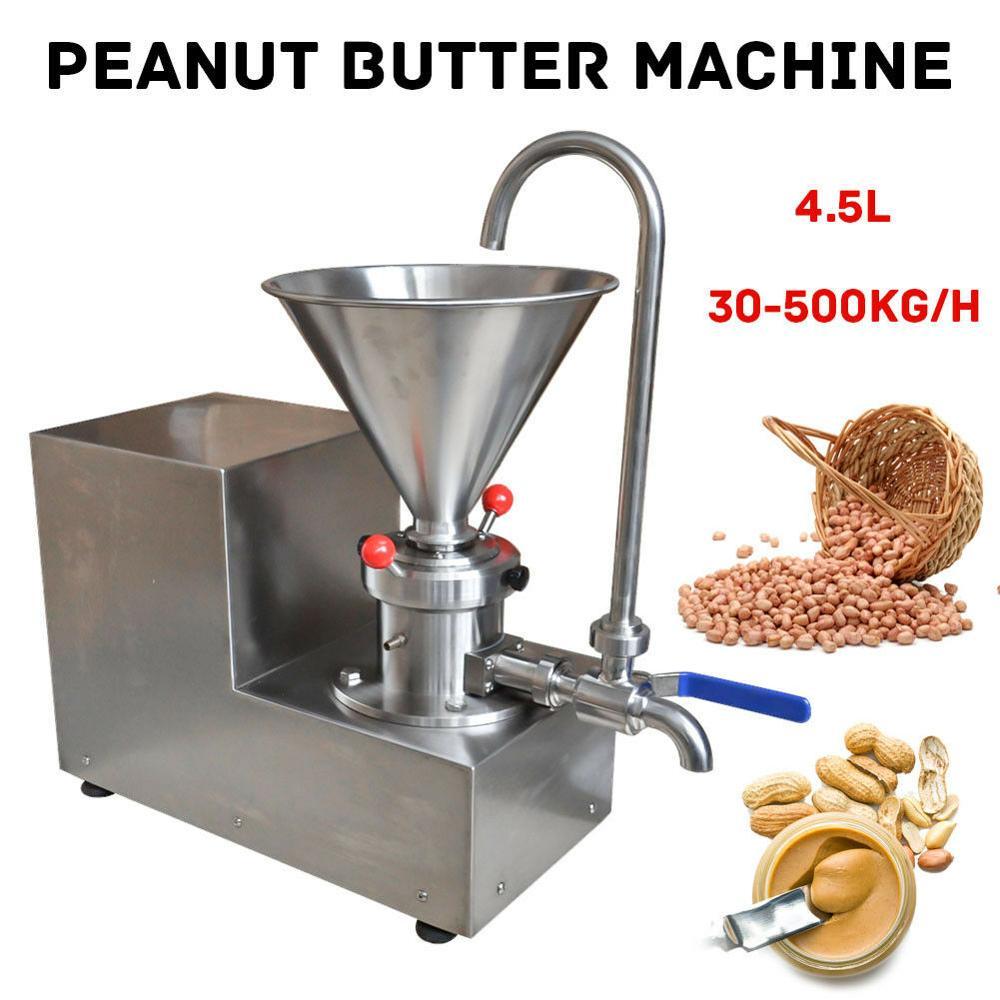 30-500kg/h Colloid Mill Grinder Peanut Butter Maker Machine Sesame Paste Grinder for Nut Butter Making Machine