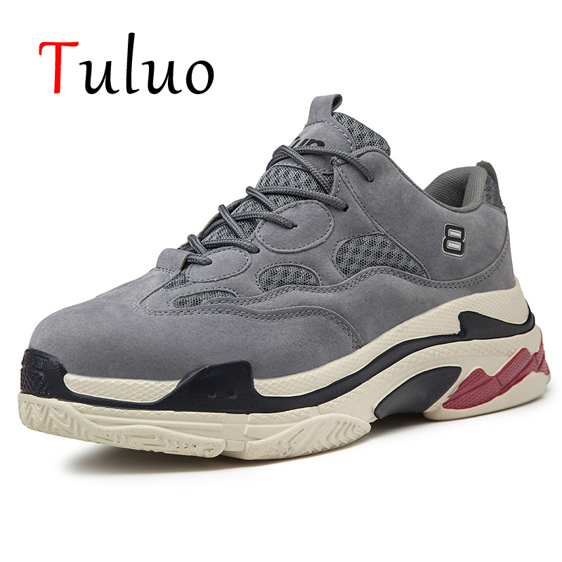 TULUO Running Shoes Mens Sneakers Black White Outdoor Comfortable Balenciaca Shoes Chaussure Zapatillas Basket Homme New Sport