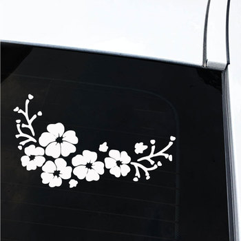 Car Sticker Flowers Car Vehicle Body Bumper Window Reflective Decals Sticker Decoration Auto Tuning Styling 2