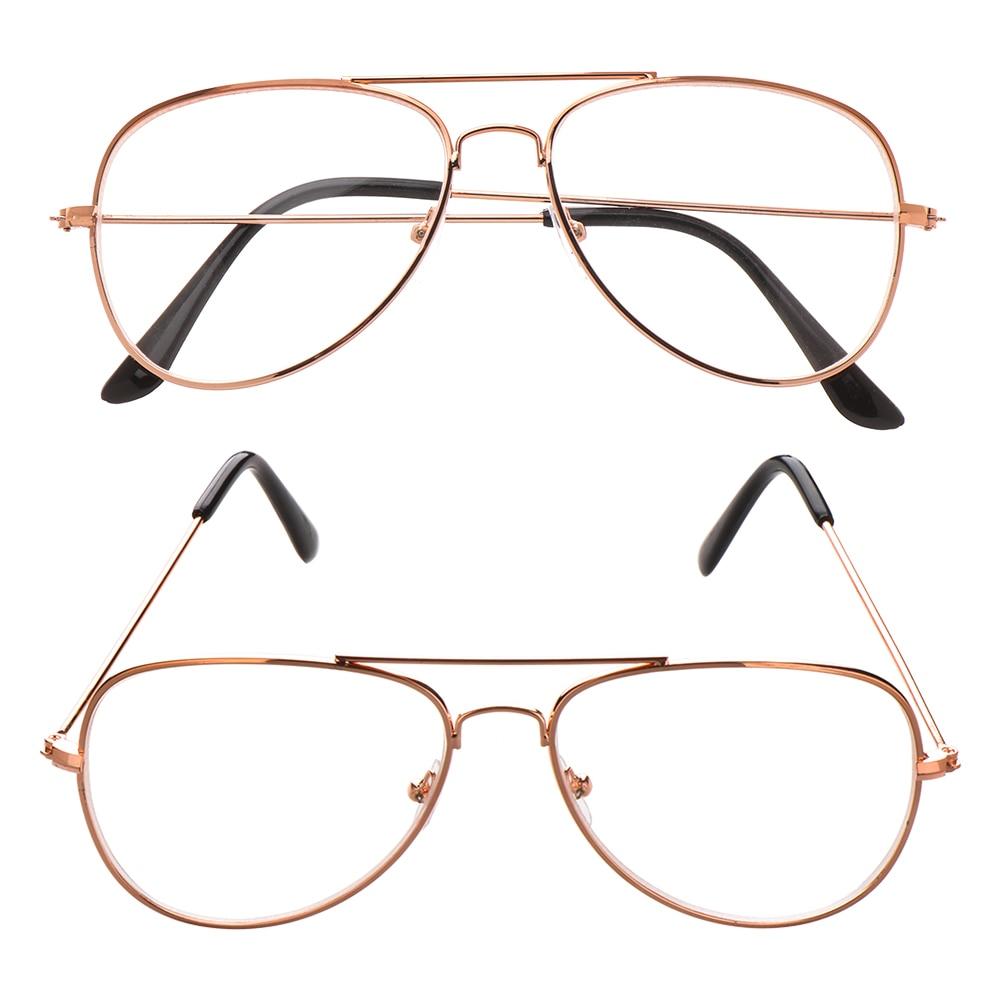 Kadın erkek klasik Metal miyopi gözlük Retro boy çerçeve gözlük moda Unisex miyop gözlük-1.0 to-4.0