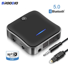 Bluetooth 5.0 Transmitter Receiver CSR8675 APTX HD Audio Music Wireless Adapter 3.5mm USB Jack AUX/SPDIF for Car TV PC Headphone