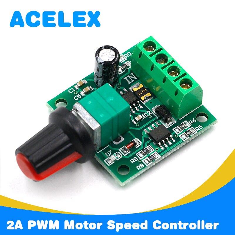 LED Display 6V 9V 12V 18V 24V 2A PWM DC Motor Speed Controller Regulator Switch